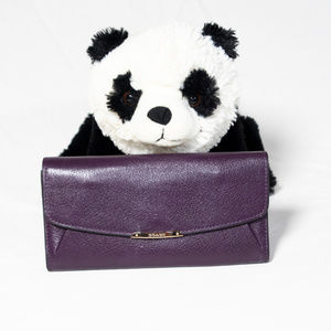 Purple Coach envelope wallet
